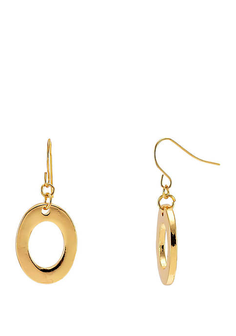 Kim Rogers® Gold Tone Open Link Drop Earrings