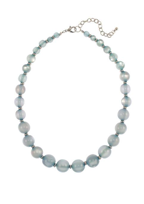 Kim Rogers® Blue Blush Single Row Beaded Necklace