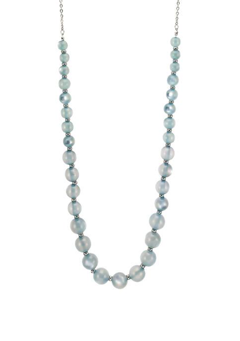 Kim Rogers® Long Blue Blush Single Row Necklace