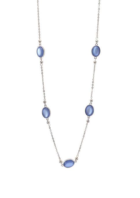 Kim Rogers® Long Blue Single Row Necklace