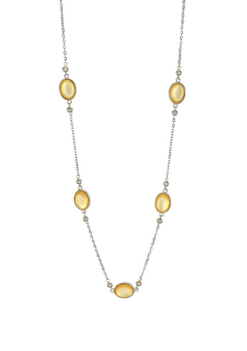 Kim Rogers® Yellow and Silver Long 1 Row