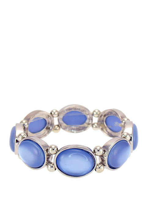 Kim Rogers® Blue Single Row Stretch Bracelet