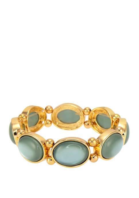 Kim Rogers® Green Single Row Stretch Bracelet
