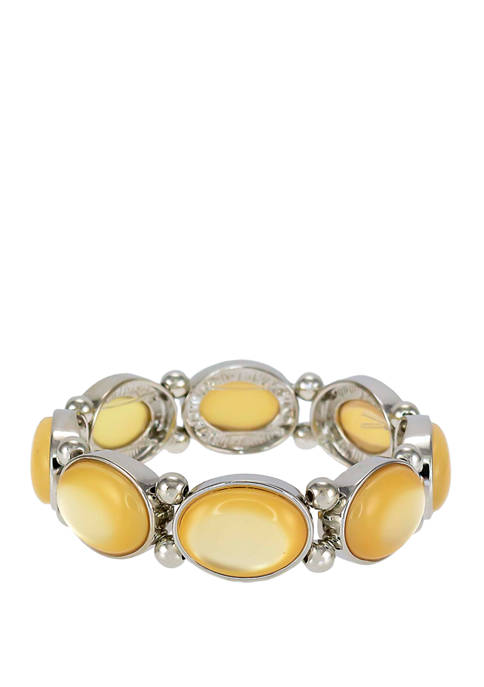 Kim Rogers® Yellow Bead One Row Stretch Bracelet