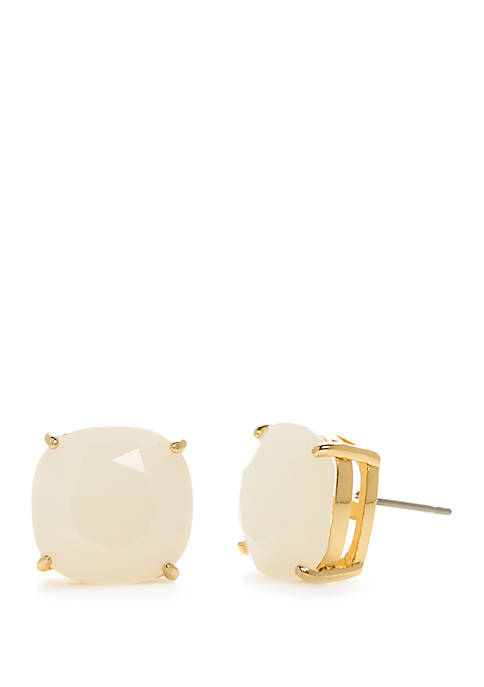 kate spade new york® Gold-Tone Small Square Stud