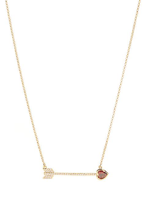 kate spade new york® Cupid Arrow Pendant Necklace