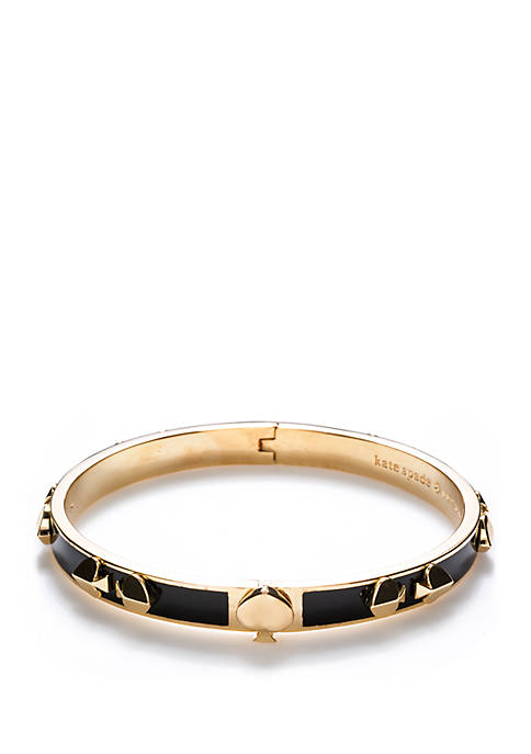 Thin Enamel Spade Bangle Bracelet