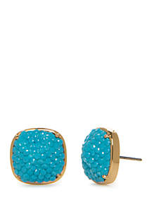 kate spade new york® Small Square Pave Stud Earrings