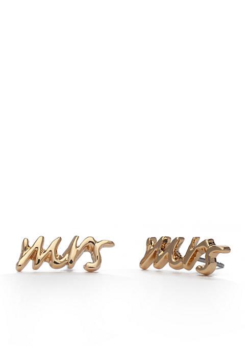 Mrs. Stud Earrings