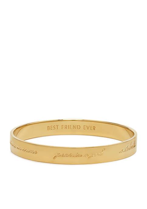 kate spade new york® Bridesmaid Idiom Bangle Bracelet