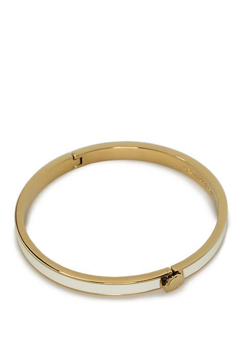 kate spade new york® Gold-Tone Thin Hinge Bangle