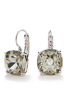 Small Square Leverback Earrings