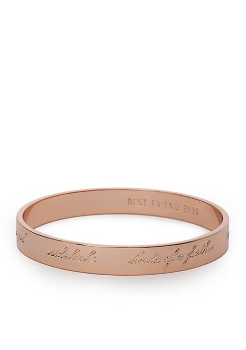 kate spade new york® Rose Gold-Tone Engraved Bridesmaid