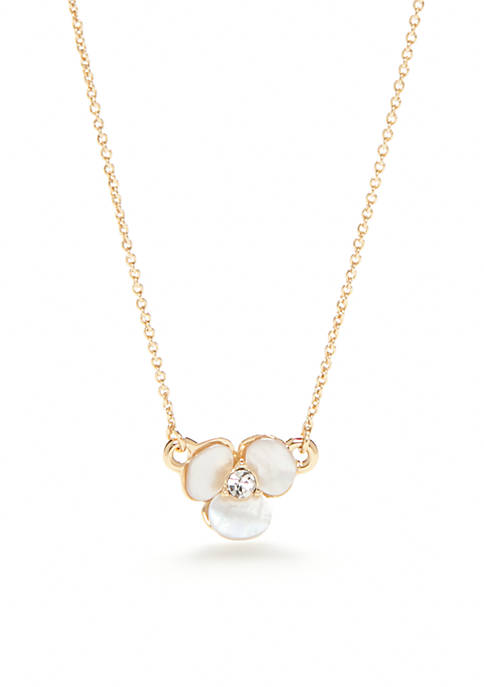 kate spade new york® Gold-Tone Disco Pansy Mini