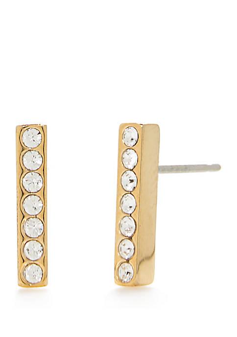 Dainty Sparklers Bar Stud Earrings