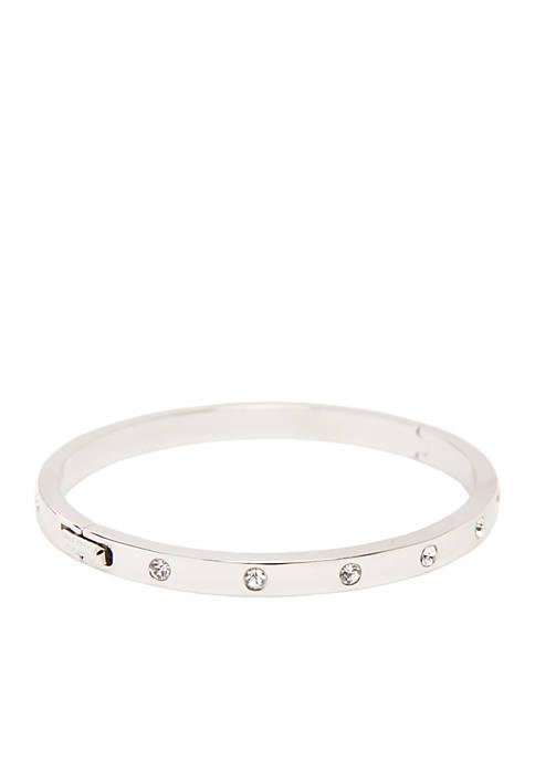 Stone Hinged Bangle Bracelet