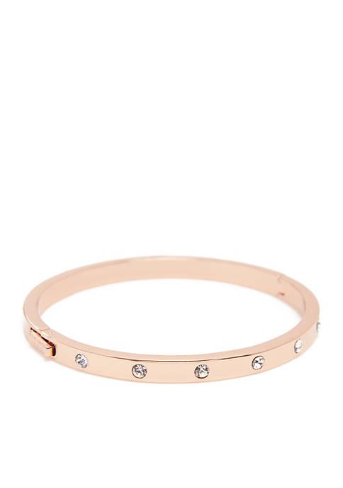 kate spade new york® Stone Hinged Bangle Bracelet