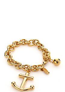Kate Spade New York Gold Tone Anchors Away Bracelet