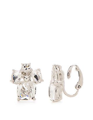 32785570ce169 Make Me Blush Cluster Clip Earrings