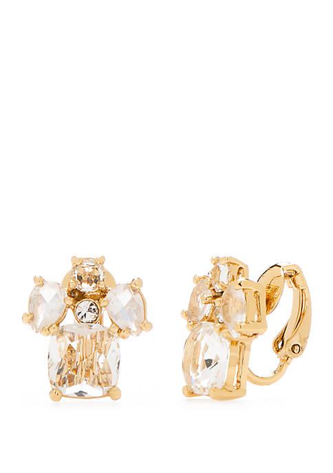 Make Me Blush Cluster Clip Earrings