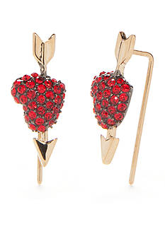 kate spade new york® Gold-Tone Be Mine Heart Ear Pins
