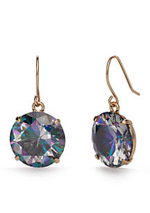 14k Gold-Plated Shine On French Wire Drop Earrings
