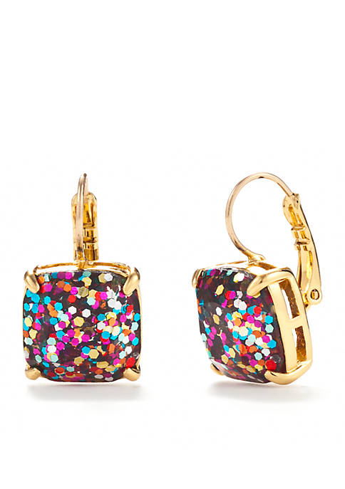 kate spade new york® Gold-Tone Small Square Drop