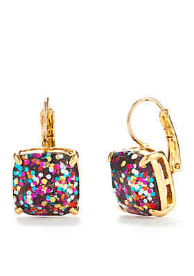 d89353cdf kate spade new york® Gold-Tone Small Square Drop Earrings ...