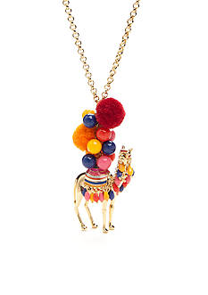 kate spade new york® Gold-Tone Spice Things Up Camel Pendant Necklace