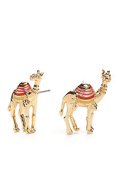 kate spade new york® Gold-Tone Spice Things Up Camel Button Earrings