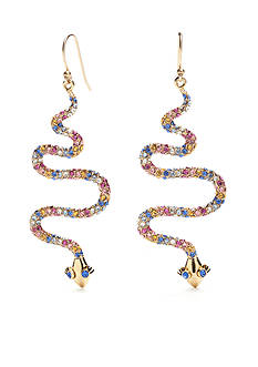 kate spade new york® Gold-Tone Spice Things Up Snake Drop Earrings