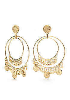 kate spade new york® Gold-Tone Flip A Coin Gypsy Hoop Earrings