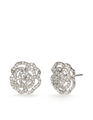 ad5538f09 kate spade new york®. kate spade new york® Silver-Tone Crystal Rose Stud  Earrings