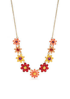 kate spade new york® Gold-Tone Brilliant Bouquet Collar Necklace