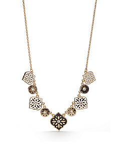 kate spade new york® Gold-Tone Moroccan Tile Mini Necklace