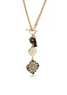 kate spade new york® Gold-Tone Moroccan Tile Toggle Pendant Necklace