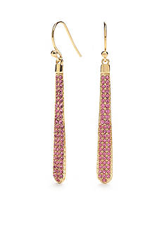 kate spade new york® Gold-Tone Shine On Linear Earrings