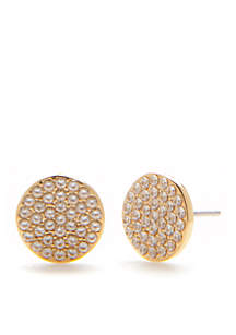kate spade new york® Shine On Pave Stud Earrings