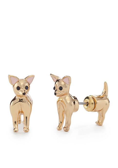 Gold-Tone Chihuahua Ear Jackets