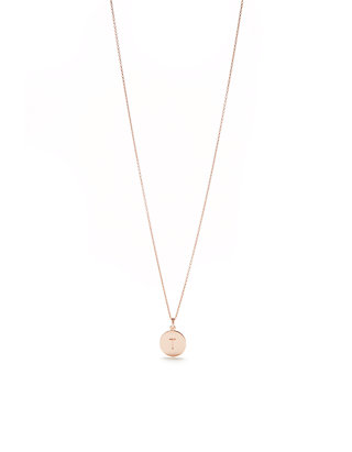 d4fb3126dc924f kate spade new york® One In A Million Rose Gold Tone Initial Disc Pendant  Necklace