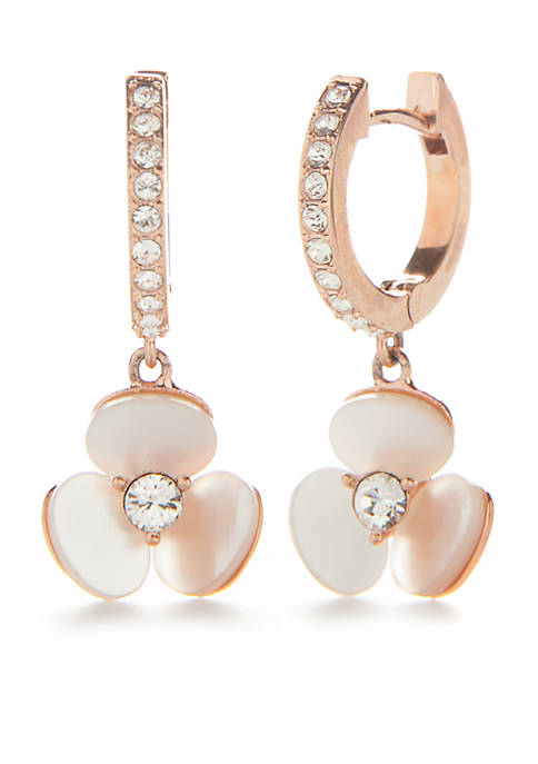 Rose Gold-Tone Disco Pansy Drop Earrings