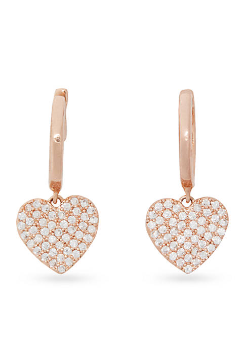 kate spade new york® Rose Gold-Tone Pave Heart