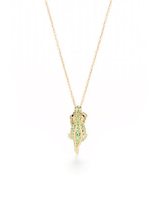 8634d754d05 kate spade new york® Gold-Tone Pave Alligator Mini Pendant Necklace ...
