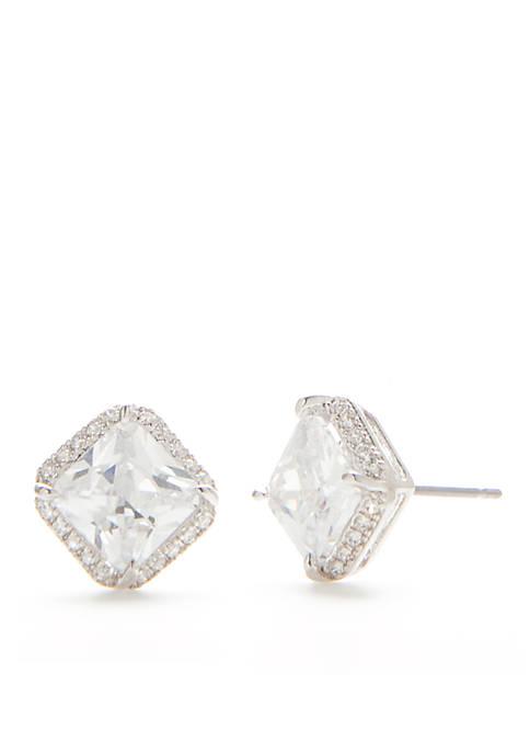 kate spade new york® Crystal Square Stud Earrings