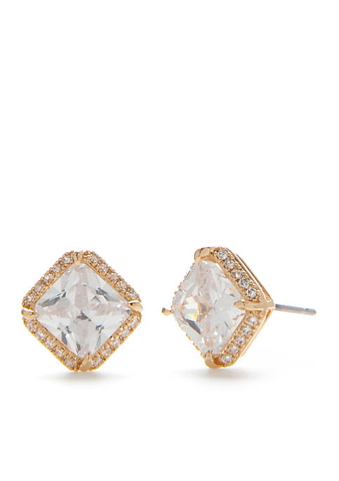 kate spade new york® Crystal Square Stud Earrings
