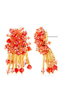 Gold-Tone Cluster Stud Earrings