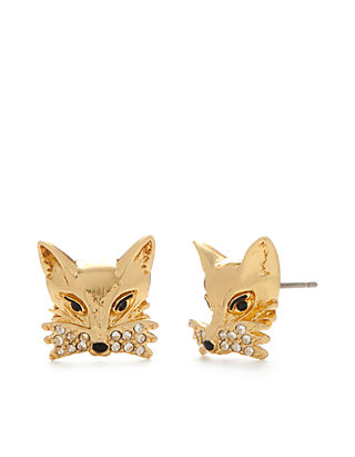 a95d152ef1815 kate spade new york® Gold-Tone Fox Stud Earrings