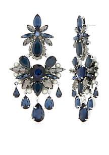 Multi Crystal Chandelier Earrings
