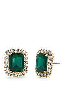Bright Ideas Emerald Stud Earrings