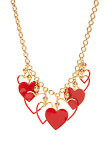 kate spade new york® Heart Chain Necklace